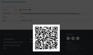 QR for crypto wallet