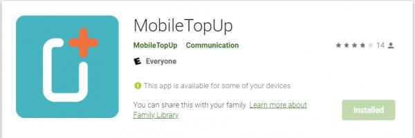 MobileTopup Playstore