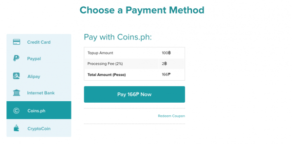 coins.ph payment method