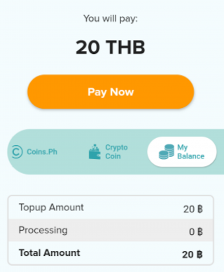 pay with in app balance